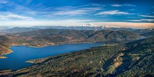 View of Lookout and Stewart Mountains flanking Lake Whatcom.
