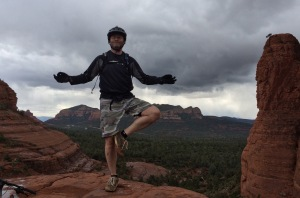 Greg on a recent riding trip to Sedona.
