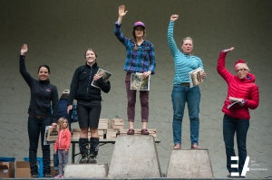 Expert Women Podium 1-5. Sarah Butsch, Gretchen Nelson, Bonnie Burke, Tori Broughton and Ariana Burrows)