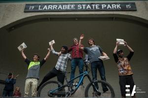 Pro Men Podium: Lars Sternberg, Logan Wetzel, Aaron Bradford, Jason Eiswald and Matt Russell.