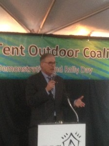 Governor Inslee speaks at the Big Tent Rally