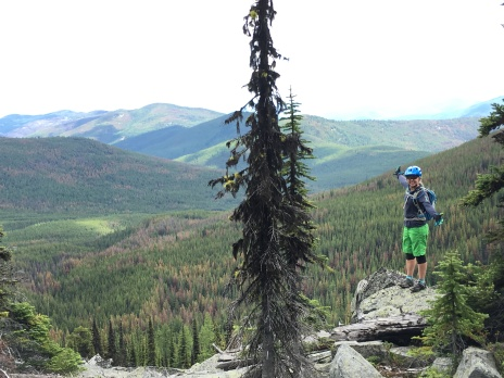 Tara taking in the views off of the Kettle Crest trail.