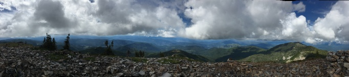 A 360 degree view from the top of Abercrombie Mountain in the Colville National Forest.