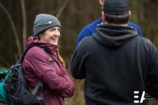 Tori, Garrett and Brian chatting at Allout 2017 trail day.