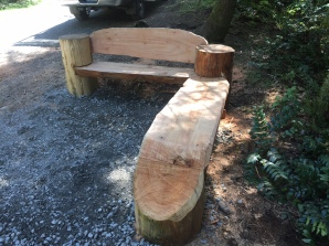 New Bench at the top of 3 Pigs courtesy of Jimmy Fricker. Ready for your enjoyment!