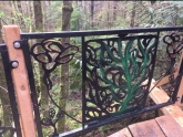Insane level of detail on the new Jack and the Beanstalk bridge railing. Mark Belles created it and he and Devon Pelkie installed it.
