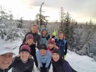 The G's during a winter run on the Ridge. Photo: Jen Gallant